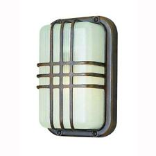 Trans Globe Bulkhead 1-Light Outdoor Rust Wall or Ceiling Fixture 41104RT