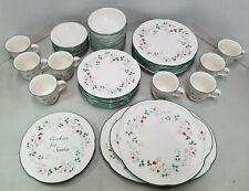 Pfaltzgraff Winterberry (8) 5 Piece Dinnerware Set w/ (3) Serving Plates Santa