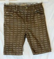 Boys TU Brown Denim Patterned Adjustable Waist Long Board Shorts Age 4 Years