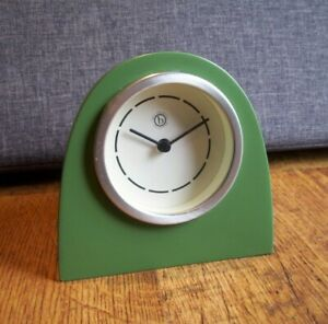 Contemporary Neil Freeman Green Desktop Clock Cast Resin Body (Quartz Operated)