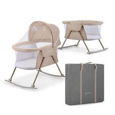 Kinderkraft Lovi Baby Cot / Cradle - Beige - Mattress + Travel Bag Included