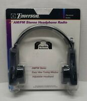 Vintage Emerson AM/FM Stereo Headphone Radio HR6216 - New & Sealed NOS NIP