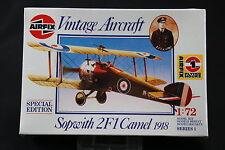 XL106 AIRFIX 1/72 maquette avion 01075 Sopwith 2F1 Camel 1918 NB 1987