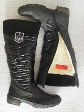 NEU * RIEKER Winter SCHNEE STIEFEL Boots WARM FUTTER Schwarz Gr. 39 WEITSCHAFT