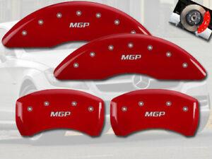 2015-2020 Mercedes Benz C300 Sport Front Rear Red MGP Brake Disc Caliper Covers