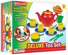 Tea Set Kidzlane Play 16 Durable Plastic Pieces Safe and BPA Free for Children