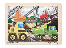 Melissa & Doug Wooden Construction Site Jigsaw Puzzle (New) 2933