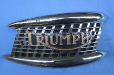 Triumph Motorcycle Gas/Petrol Tank Badge 1957-65 Pre & Unit 4-Gal 6T T110 T120