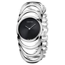 Calvin Klein Women's 30mm Steel Bracelet & Case Quartz Analog Watch K4G23121