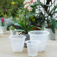 5-7 inch Orchid Clear Flower Pot Plastic Planter Breathable Slotted SALE Fleshy