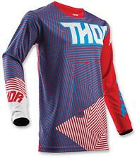 Thor Youth MX ATV Motocross Jersey S8Y Red/Blue Large