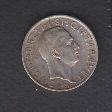 1937 Albania. 1 FR.AR. Silver coin 5 gr Rare.  See the Picture.    441