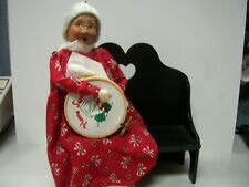 Byers Choice - 1995 Needlepoint Mrs. Claus on Bench