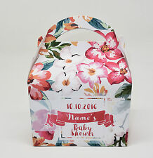 Personalised Vintage Floral Baby Shower Party Favour Gift Box Hen 1ST CLASS POST