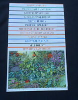 COMPLETE MINT SET OF 12 NATURE OF AMERICA SHEETS  3293/3378/....4423/4474 VF MNH