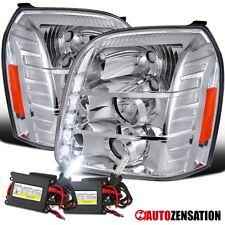 07-12 GMC Yukon XL/Denali Chrome LED DRL Projector Headlights+6000K HID Kit