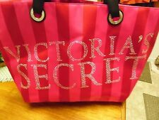 NEW HUGE VICTORIA'S SECRET TRAVEL BAG PINK RED SILVER  RARE LIMITED EDITION