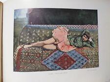 PERSE/Gravure 19°in folio couleur/téhéran:Persane dans le Harem