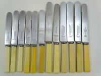 12 Butter Knives Composite Handles Different Maker Stainless Steel Blades