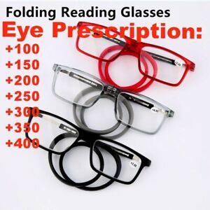 Foldable Magnetic Reading Glasses Adjustable Hanging Neck Folding Glasses