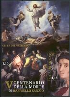 Vatican City Art Stamps 2020 MNH Raphael Paintings Transfiguration 2v M/S