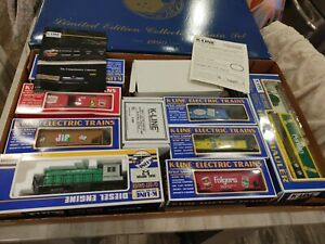 K-Line Limited Edition Train 1990 set 6 trains+ 1 engine + tracks + transformer