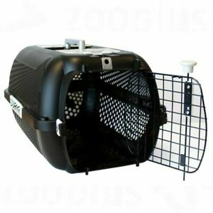 Dog Pet Transport Box Black Tiger Pattern Ideal for Cats and Small Dogs