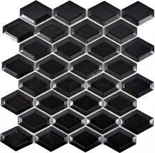 Mosaik Fliese Keramik schwarz Diamant Metro schwarz matt WB13MD-0311