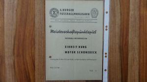 DDR Programm Einheit Burg - Motor Schönebeck  12.05.1957
