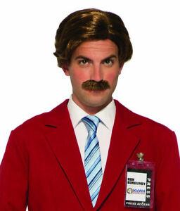 Anchorman: The Legend of Ron Burgundy Wig & Moustache