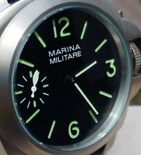 Marina Militare Watch 44mm Homage Titanium Brushed Sandwich Leather Strap NEW