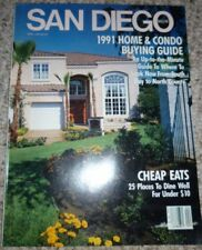 San Diego Magazines 2 Issues Home Buying 1991 English Monthly Travel & Regional