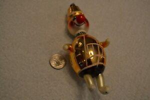 "Vintage Italian Blown Glass Christmas ornament Clown/Hobo 6""  ITALY De Carlini?"
