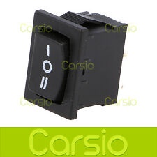 6A 250V (ON)-OFF-(ON) Momentary Black Rocker Dash Switch Light Car SP3T