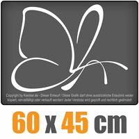 Schmetterling  chf0372 weiß 60 x 47 cm Heckscheibenaufkleber Scheibe Auto Car