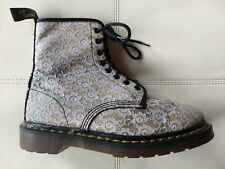 DOC DR MARTENS WHITE LACE & GLITTER BOOTS MADE IN ENGLAND RARE VINTAGE 7UK US:W9