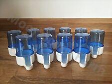 10 X 40cc alimentador del pájaro bebedor de agua jaula Canario Finch semilla Clipper fuente