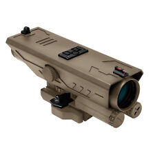 NcStar VDELTP430G FDE 4X30mm Scope w/White & Red NAV LED w/Back-Up Iron Sights