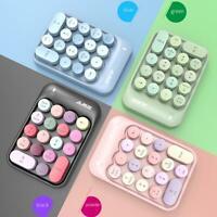 For Laptop PC Wireless Mini Digital Keyboard Numeric Keypad with 18 Round Keys