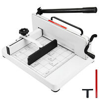"""New Heavy Duty Guillotine Paper Cutter 12"""" Trimmer Commercial Metal Base A4"""