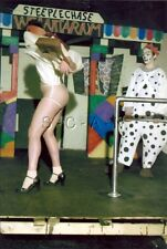 Org Amateur Semi Nude Large (7 x 10.25) Photo- Clown- Funhouse- Panties- Skirt 3