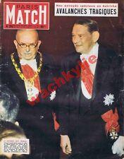 Paris Match n°252 du 23/01/1954 René Coty de Havilland avalanche Autriche amazon