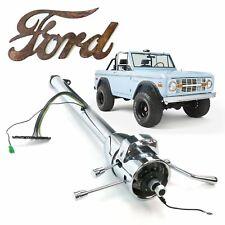 """33"""" Chrome Tilt Steering Column Shift Fits 1966-1977 Ford Bronco 460 OHV Roadste"""