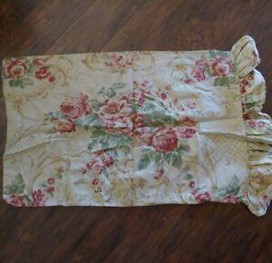 1 Ralph Lauren Grosvenor Square Cottage Ruffle Standard Pillowcase Sateen Floral