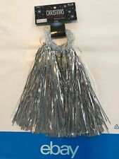 Christmas Shoppe Silver Nine Foot Tinsel Garland Pompoms New