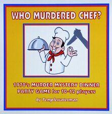 Década de 1970 asesinato cena misteriosa Fiesta Juego ~ para 10-12 jugadores ~ que han asesinado a chef?