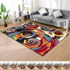 New Luxury Living Room Area Rug 60x110 cm Modern Multicolor Abstract Carpet UK