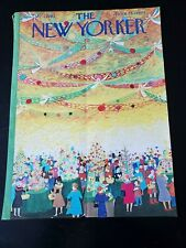 New Yorker COVER ONLY December 7 1963 ILONKA KARASZ Christmas Holiday Party