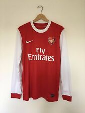 ARSENAL 2010/11 Home L/S Football Shirt (M) Nike Soccer Jersey Rare Top