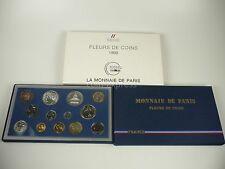 *** Francia franco kms 1988 FDC fleurs de coins curso conjunto de monedas euro antes de France